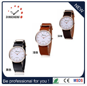 China Suppliers Genuine Leather Dw Watches Men Quartz Wrist Retail Watch pictures & photos