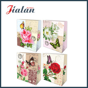 Nature Style Flowers & Buttlefly Fashion Shopping Carrier Gift Paper Bag pictures & photos