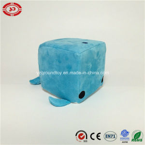 Blue Square New Design Custom Funny Whale Soft Plush Toy pictures & photos