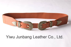 New Fashion Elastic Belt for Women with Double Buckles -Jbe1638 pictures & photos