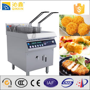 Fish and Chips Fryers with Double Baskets Induction Fry Machine pictures & photos