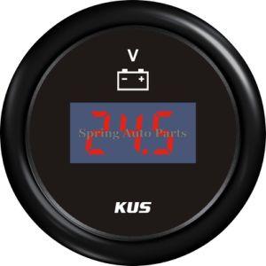 Best Sale 52mm Digital Voltmeter Voltage Gauge 12V 24V 9-32V with Backlight pictures & photos