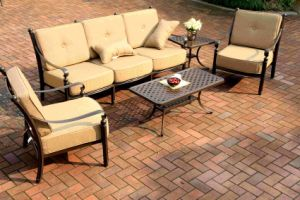 Classic Garden Chat Sofa Set Furniture (beige cushion) pictures & photos