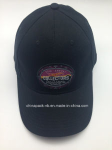 Cotton Black 6 Panel Meatal Adjustable Glof Cap (CPA_31081) pictures & photos