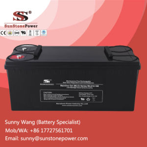 Sealed Maintenance Free & Deep Cycle Gel Solar Battery 12V 160ah pictures & photos