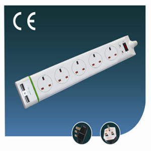 UK Style Electrical Outlet Socket with Switch and USB