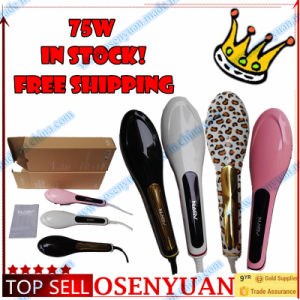 Festival Gift Newest Fashion LCD Display Electric Hair Straightener Brush pictures & photos