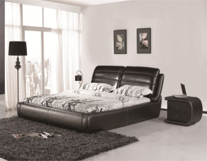 Modern Leather Bed for Bedroom Furniture pictures & photos