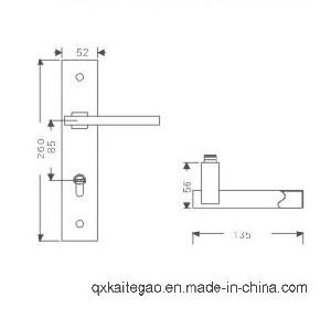 Stainless Hollow Door Handle on Plate (KTG-8512-014) pictures & photos