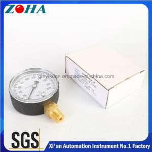 63mm Common Pressure Gauge with Hpb59-1 Brass Connector Export to America Market pictures & photos
