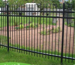 American Standard 6FT*8FT Spear Top Steel Fence/Wrought Iron Fence pictures & photos