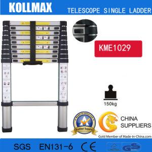 Magic Aluminum Telescopic Single Ladder with En131 CE GS Kme1029 pictures & photos