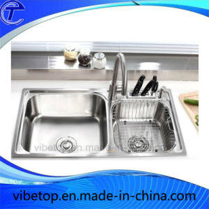 Multifunctional Large Stainless Steel kitchen Sink for Factory Price pictures & photos