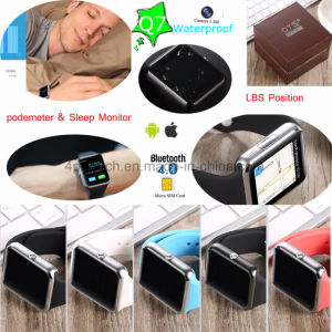 Touch Screen Smart Watch Phone with SIM Card Slot Q7 pictures & photos