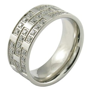 Dubai Style CNC Glue Stone Men Ring pictures & photos