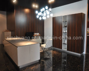 Modular Project Affordable Modern High Gloss Wooden Grain Kitchen Cabinets pictures & photos
