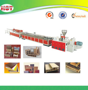 WPC Profile Production Line for Wood Plastic Door Frame Flooring pictures & photos