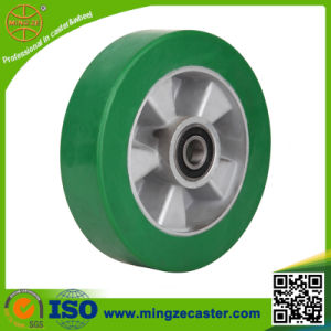 High Quality Aluminium Core Green PU Wheel pictures & photos