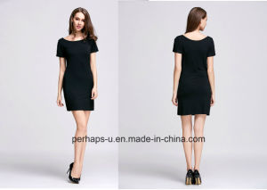 Ladies Sexy Short Knit Dress pictures & photos