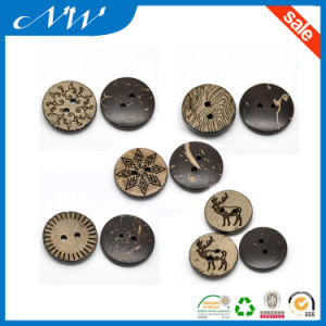 Diffrence Type Mixed Brown Pattern Two Hole Coconut Button pictures & photos