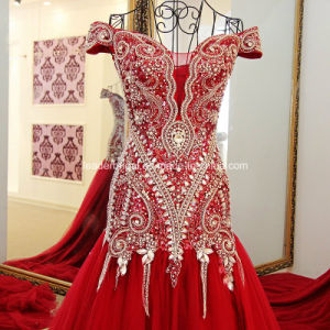 Crystals Evening Gown Customized Mermaid Beading Prom Dresses E15901 pictures & photos