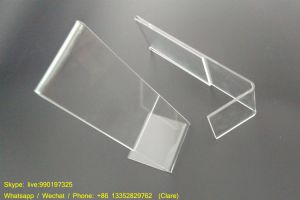 Clear L Shape Acrylic Plexiglass Sign Holder pictures & photos
