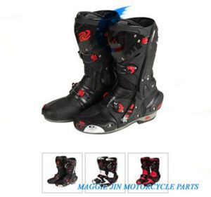 Motorcycle Boots of Wear-Resistant Super-Fiber Leather pictures & photos