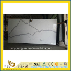 Custom White Calacatta Artifical Quartz Stone Countertop for Kitchen, Island pictures & photos