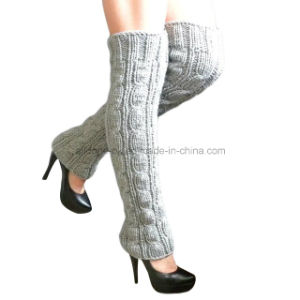 Hand Knit Leg Warmer Socks, Hand Knit Boot Cuffs pictures & photos