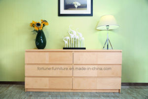 Modern Wooden Birch Veneer UV Clear Lacquered Chest of 6 Drawers (AD-FY-N1015C-LDG) pictures & photos