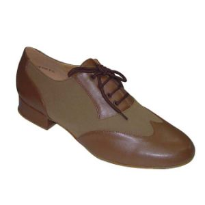 Tan Leather Men′s Standard Dance Shoes pictures & photos