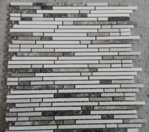 Linear Mosaic Tile Marble Stone Mosaic (HSM222) pictures & photos