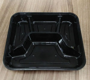 4-Compartment Obentos/Fast Food Plastic Microwave Food Container/Take Away pictures & photos