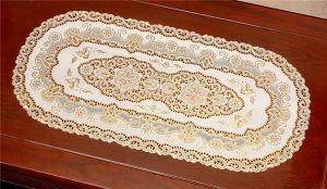 PVC Vinyl Lace Gold Placemat /Placemat with Gold Lace pictures & photos