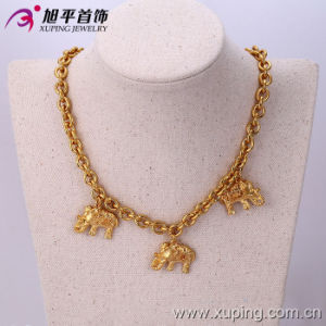Fashion 24k Gold Color Elephant Strap Necklace (42474) pictures & photos