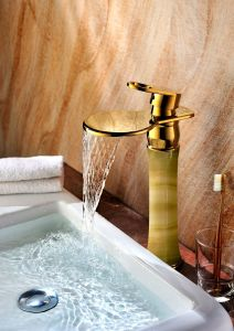 Bathroom Brass Basin Faucet with Jade (SD-H-002B) pictures & photos