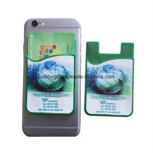 Silicone Sticky ID Card Holder for Mobile Phone Accessories pictures & photos