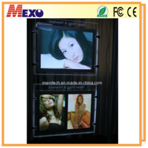 Magnetic crystal LED Light Pocket with Etched Logo pictures & photos