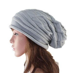 Lady Fashion Acrylic Knitted Winter Warm Beanie Hat (YKY3123) pictures & photos