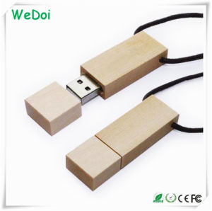 Popular Bamboo USB Memory Stick with Lanyard (WY-W25) pictures & photos