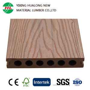 Co-Extrusion Wood Plastic Composite Decking with Certification pictures & photos