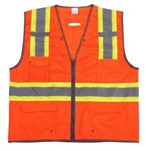 High Visibility Reflective Safety Vest with Warning Band (DFV1087) pictures & photos