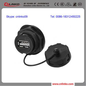 IP67 PBT Circular Waterproof USB Receptacle with High Speed for Digital Cameras pictures & photos