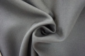 Satin Weave Wool Fabric Black pictures & photos