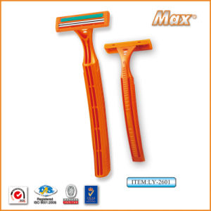 Hot Twin Stainless Steel Blade Disposable Shaving Razor (LY-2601) pictures & photos