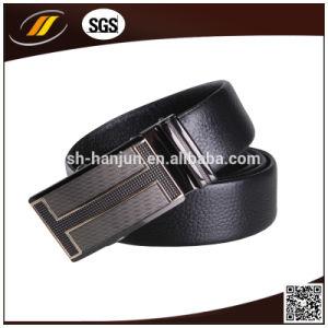 OEM High Quality Top Leather Black Automatic Buckle Belt Men′s Man Belt (HJ3102) pictures & photos