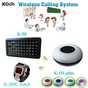 Wholesale Price Restaurant Display Mintor K-50 Watch Pager K-200c New Arrival K-O1plus Call Button Wireless Paging System pictures & photos