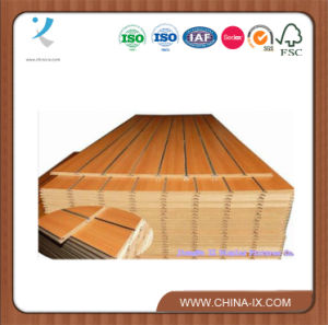 Melamine or Veneer Slotted MDF pictures & photos