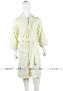 Trendy Design High Quality 100% Cotton Terry Hotel or Home Bath Bathrobe pictures & photos
