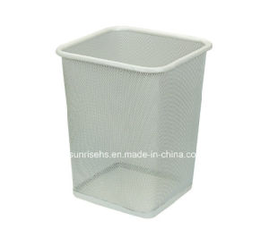 Black Mesh Trash Bin for Hotel pictures & photos